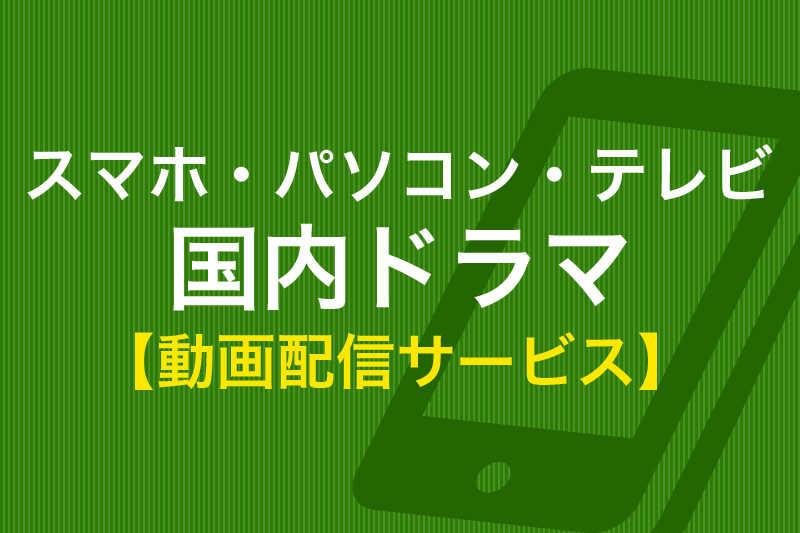 スマホ・パソコン・テレビ 国内ドラマ 動画配信サービス