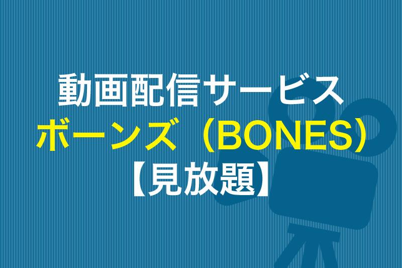 ボーンズが見放題の動画配信サービス