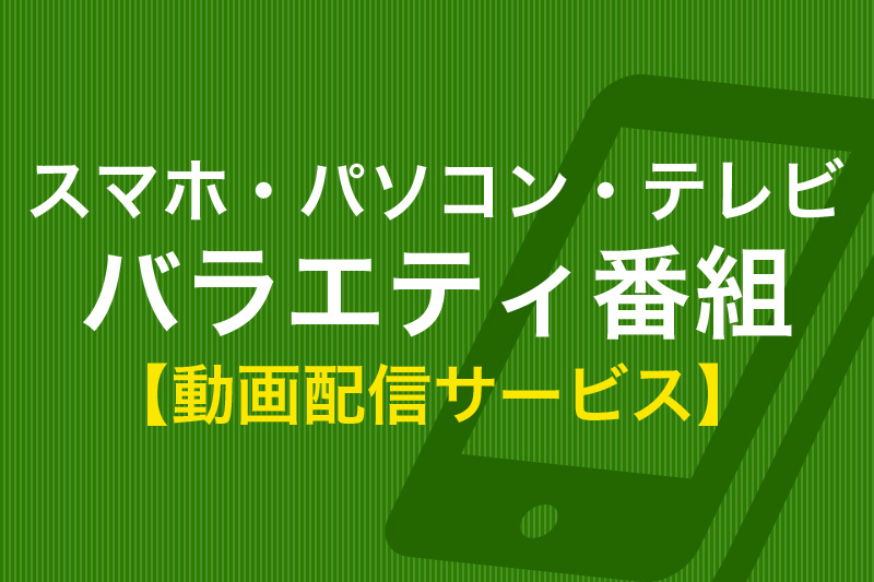 スマホ・パソコン・テレビ バラエティ番組 動画配信サービス