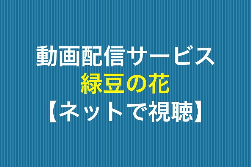 動画配信サービス 緑豆の花 ネットで視聴