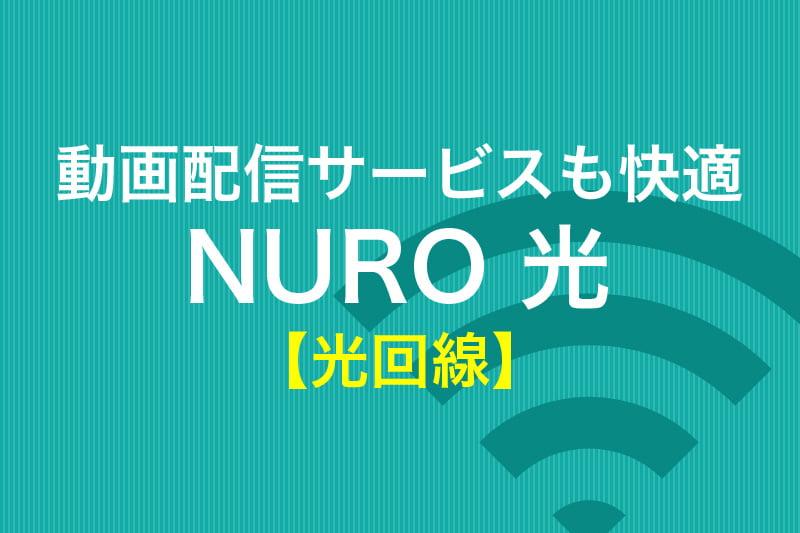 動画配信サービスも快適 NURO 光 光回線